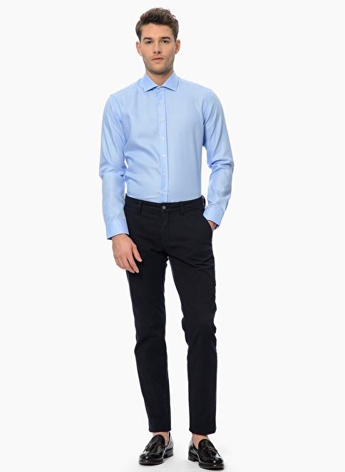 Network Uzun Kollu Klasik Gömlek Mavi
